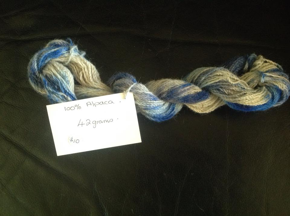 blue white skein